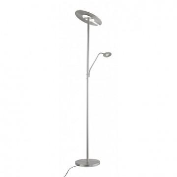 Lampadaire DENT, Nickel, LEDS Intégrées + Liseuse