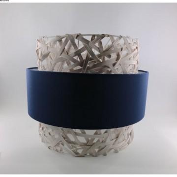 Suspension MARINE, blanche et bleue, 1 lumière