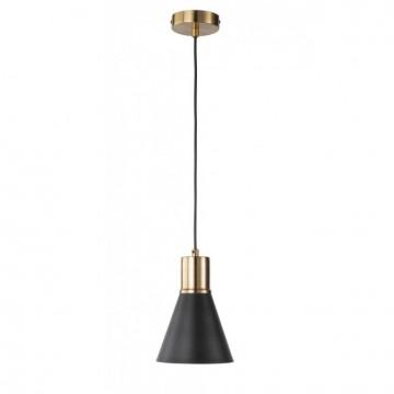 Suspension PLANO, Noir et Or, 1 lumière