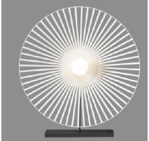 Lampe TAZENA, Blanche, 1 lumière, D55.