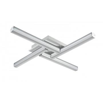 Plafonnier KUBY, Chrome, LEDS Intégrées