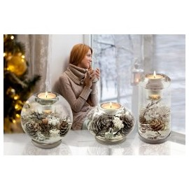 Bougeoir CANDELA, décoration hivernale