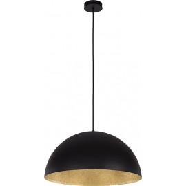 Suspension SFERA, Noir et or, 1 lumière, D50