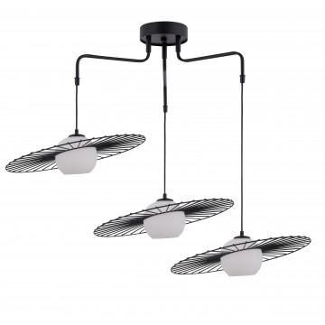 Suspension SOL, Noir, 3 lumières