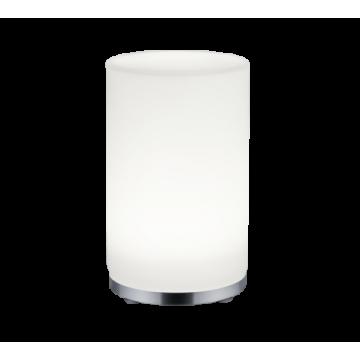 Lampe JOHN, Blanche et chrome, RGB, LEDS Intégrées.