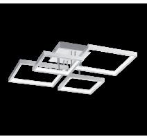 Plafonnier SORRENTO, Aluminium Mat, LEDS Intégrées, 4 lumières