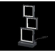 Lampe SORRENTO, Noir Mat, LEDS Intégrées, 3 lumières
