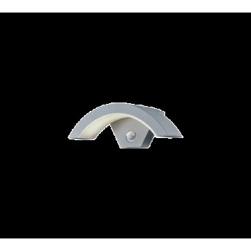 Applique OHIO, Grise, LEDS Intégrées, Avec détecteur