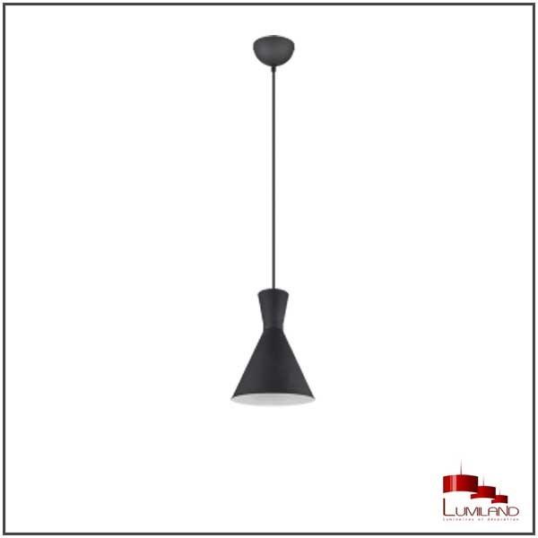 Suspension ENZO, Noire, 1 lumière