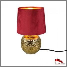 Lampe à poser SOPHIA, Dorée et Rouge, 1 lumière