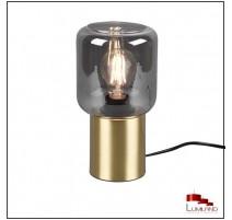 Lampe NICO, Laiton et Fumé, 1 lumière.