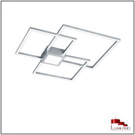 Plafonnier HYDRA, Nickel Mat, L.E.D Intégrée
