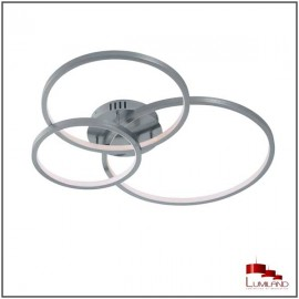 Plafonnier AARON, Nickel Mat, CCT, RGB, LEDS Intégrées.