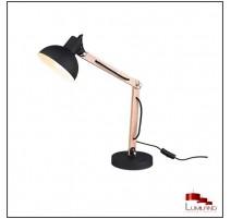 Lampe KIMI, Noir et Bois, 1 lumière
