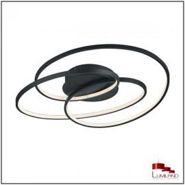 Plafonnier GALE, Noir Mat, LEDS Intégrées, D60