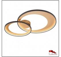 Plafonnier GRANADA, Noir et Or, LEDS intégrées, D85