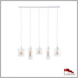 Suspension ILO-ILO, Blanche, 5 lumières linéaires