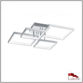 Plafonnier SORRENTO, Aluminium Mat, L.E.D Intégrée, 4 lumières
