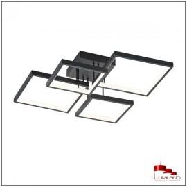 Plafonnier SORRENTO, Noir Mat, L.E.D Intégrée, 4 lumières