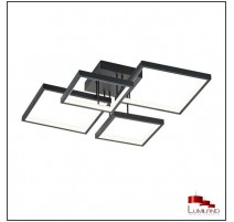 Plafonnier SORRENTO, Noir Mat, LEDS Intégrées, 4 lumières