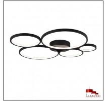 Plafonnier RONDO, Noir, LEDS Intégrées, 5 lumières