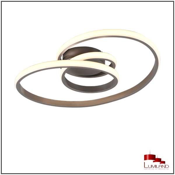 Plafonnier SANSA, Nickel Mat, LEDS Intégrées.