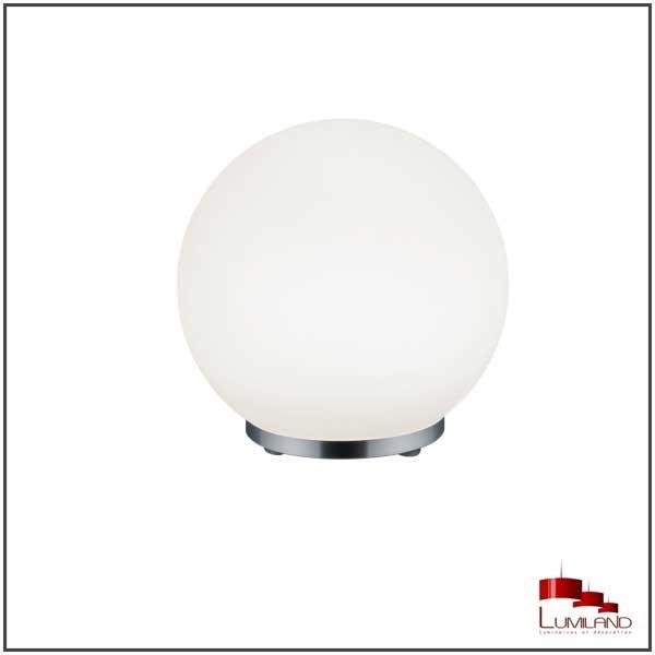 Lampe à poser GEORGE, Blanche et Chrome, RGB, LEDS Intégrées