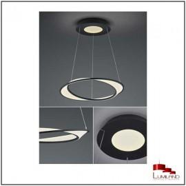 Suspension AURORA, Noire et Blanche, LEDS Intégrées