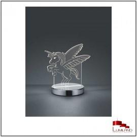 Lampe KARO, Chrome et transparent, LEDS Intégrées, CCT
