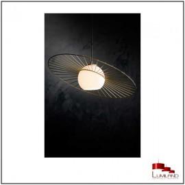Suspension SOL, Noir et Or, 1 lumière