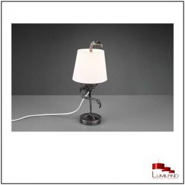 Lampe LOLA, Argent et Blanche, 1 Lumière