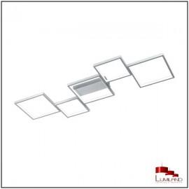 Plafonnier SORRENTO, Aluminium Mat, L.E.D Intégrée, 5 lumières