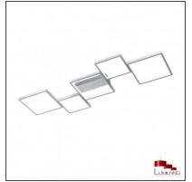 Plafonnier SORRENTO, Aluminium Mat, LEDS Intégrées, 5 lumières