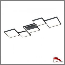 Plafonnier SORRENTO, Noir Mat, L.E.D Intégrée, 5 lumières