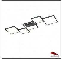 Plafonnier SORRENTO, Noir Mat, LEDS Intégrées, 5 lumières