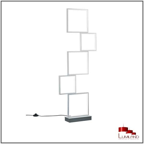 Lampadaire SORRENTO, Aluminium Mat, LEDS Intégrées, 5 lumières