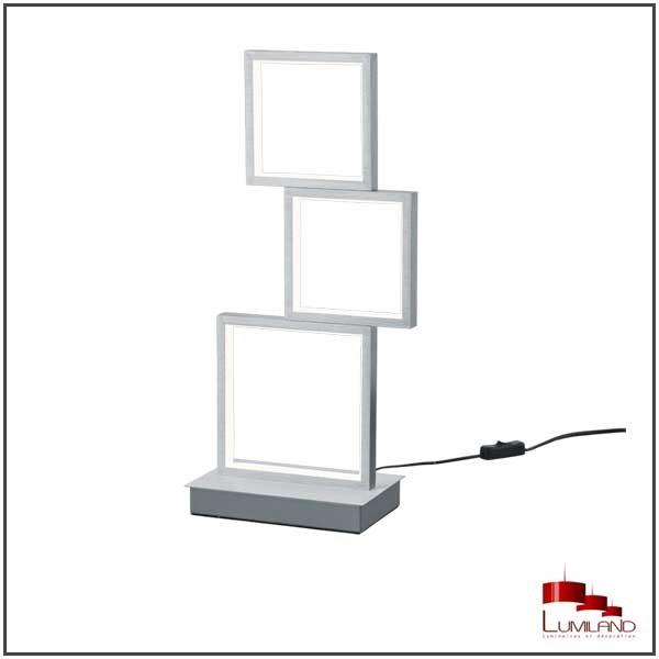 Lampe SORRENTO, Aluminium Mat, LEDS Intégrées, 3 lumières