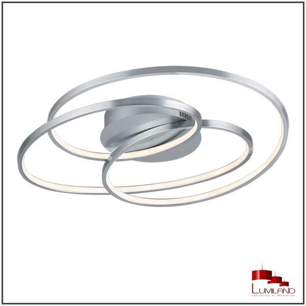 Plafonnier GALE, Nickel Mat, LEDS Intégrées, D60