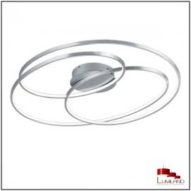 Plafonnier GALE, Nickel Mat, LEDS Intégrées, D80