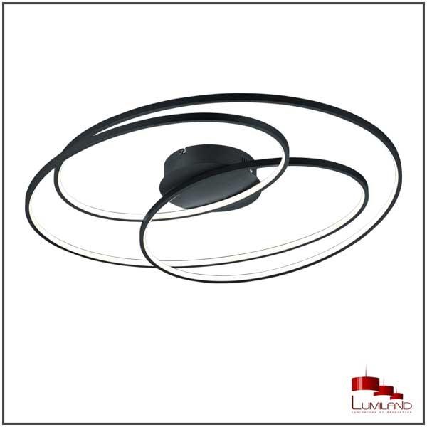Plafonnier GALE, Noir Mat, LEDS Intégrées, D80