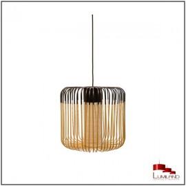 Suspension BAMBOO, Noir et Naturel, 1 lumière, D45 (taille M)