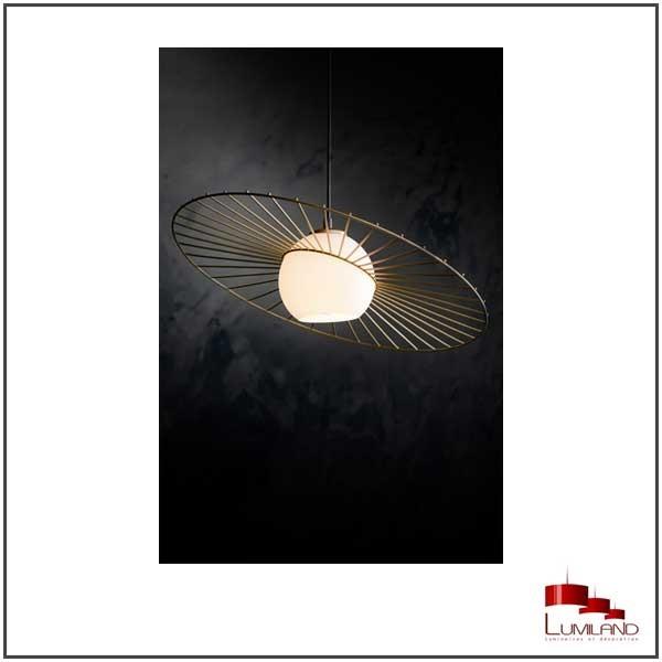 Suspension SOL, Noir, 1 lumière
