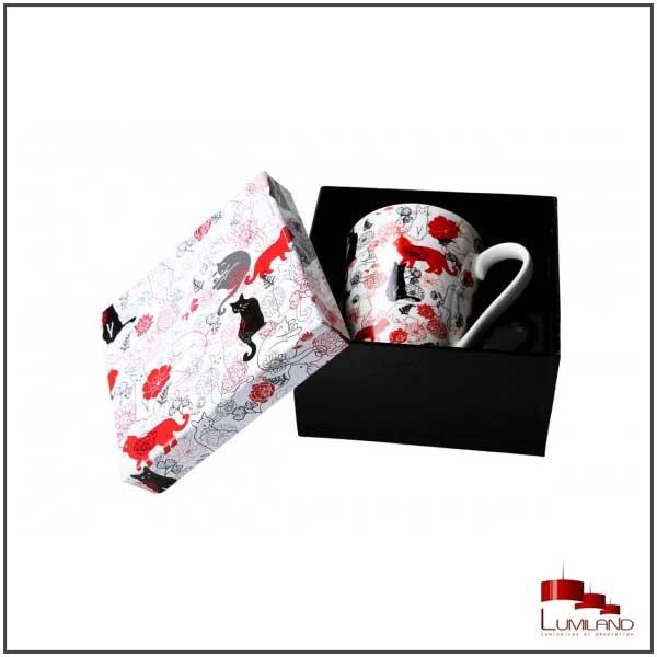 Tasses BERLIOZ, Rouge et Blanc, 1 pièce