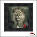 Tableau MAFIA, Lion, encadrement Noir