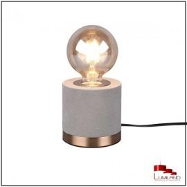 Lampe à poser JUDY, Dorée et Grise, 1 lumière