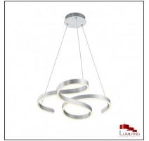 Suspension FRANCIS, Aluminium Balayé, LEDS Intégrées
