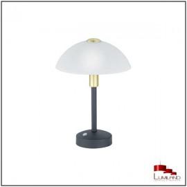 Lampe à poser DONNA, Noire et Or , LEDS Intégrées, Tactile