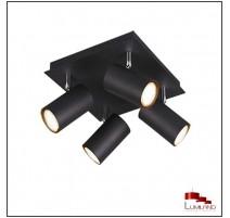 Plafonnier MARLEY, Noir, 4 lumières.