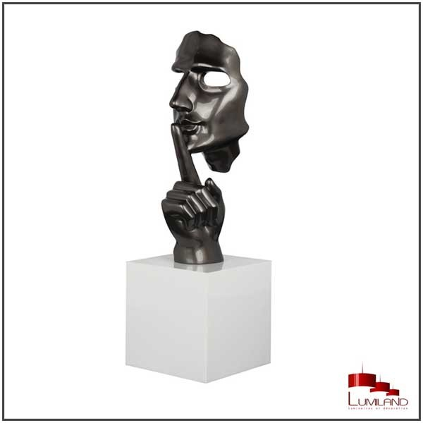 Statue SECRETO, Gris Perle