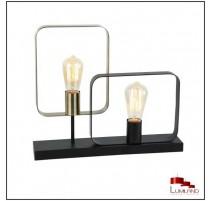 Lampe ECHO, Noire et Laiton, 2 lumières